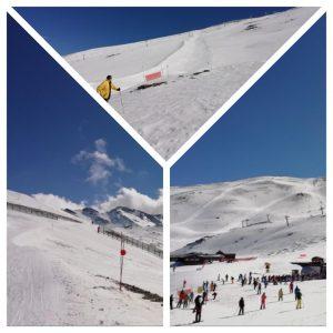 Skifahren in der Sierra Nevada